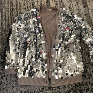 Silence and Noise Stassy Sequin Cardigan Sweater